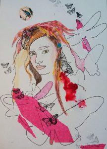 La noche de la pluma roja de la artista Martmina